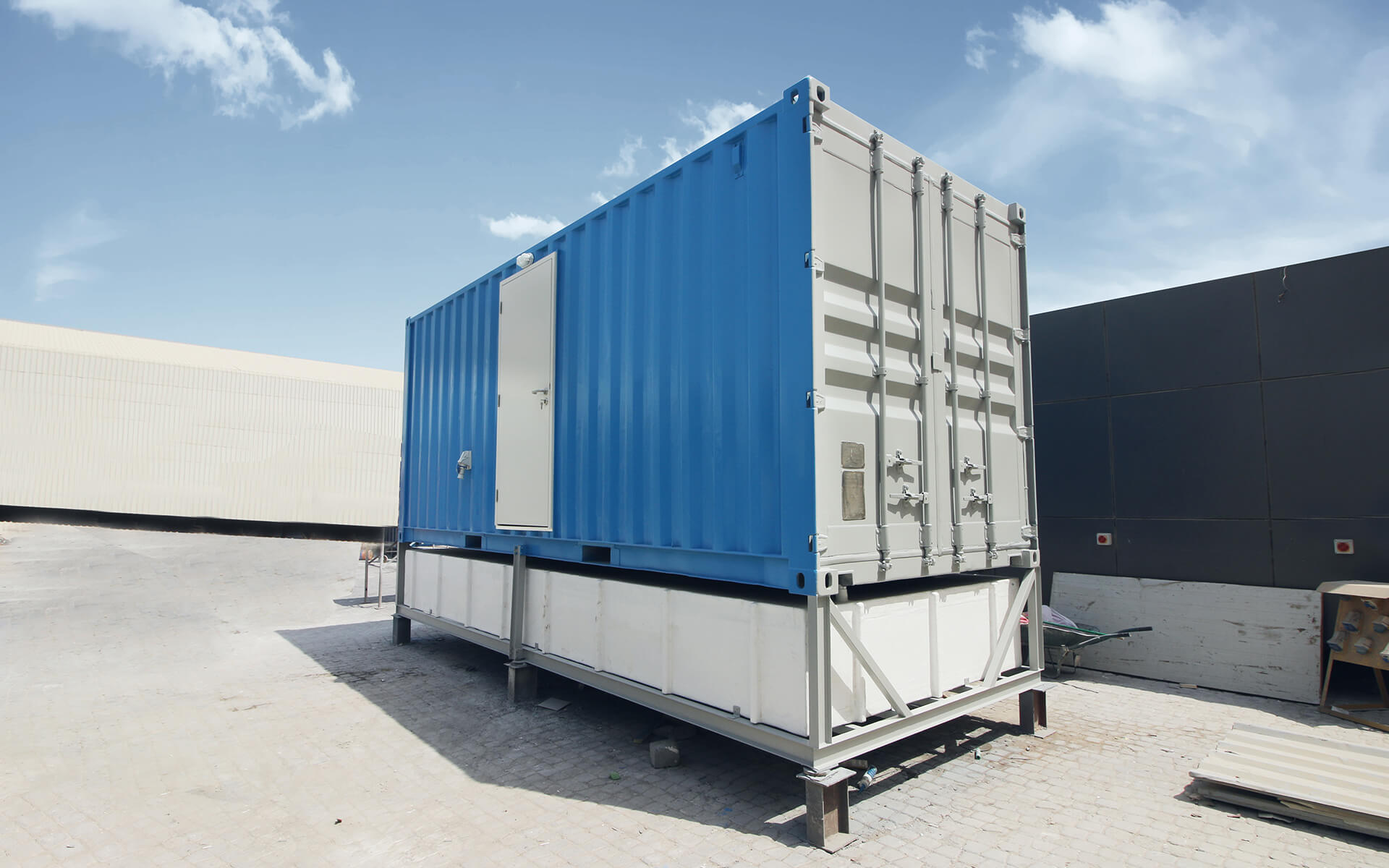 Portable Container Toilet Block by Qubes